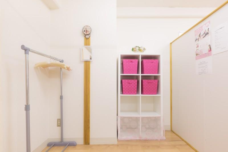 更衣室も完備しています